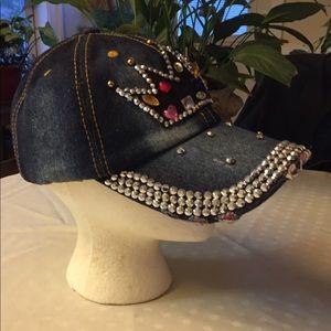 Accessories - Princess Bling Denim Hat NWOT